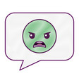 speech bubble angry emoticon face vector image vector image