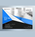 stylish blue geometric business brochure vector image vector image