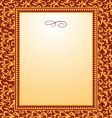 swirl pattern and frame vector image vector image