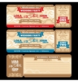 ticket wedding invitation vector image