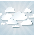White clouds or speech bubbles for your text vector image