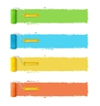 Roller Brushes With Stripes for Your Text vector image