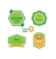 Set of logos for organic and natural food vector image