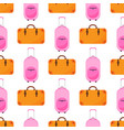 travel baggage seamless pattern with flat colorful vector image