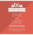 wedding invitation save the date design graphic vector image