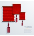 modern chinese Paper Lantern background vector image