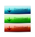 glossy download buttons vector image
