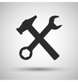Wrench and hammer Tools icon vector image