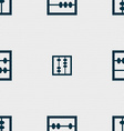 Abacus icon sign Seamless pattern with geometric vector image