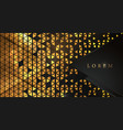 abstract golden triangle pattern background vector image vector image