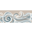 Abstract horizontal seamless waving background vector image