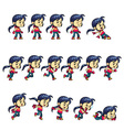 Action Girl Game Sprites vector image