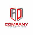ad logo vector image vector image