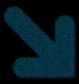 arrow down right composition icon of halftone vector image vector image