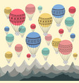 background of colourful hot air balloons and vector image