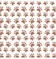 background paw animal decoration pattern vector image