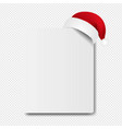 banner with santa claus cap transparent background vector image vector image