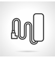Battery line icon vector image