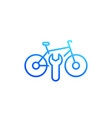 bicycle bike repair service icon linear on white vector image