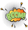boom comic speech bubble in pop art style vector image vector image
