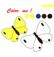 butterfly coloring page vector image