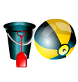 Childrens bucket vector image
