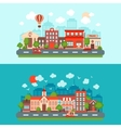 City scape set vector image vector image