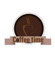 coffee shop logo with inscription vector image vector image