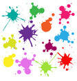 colorful frame with blobs isolated white vector image vector image