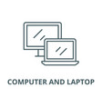 computer and laptop line icon computer vector image vector image
