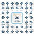 contact us - set of thin line web icons on a vector image vector image