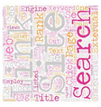 Crucial Factors In SEO text background wordcloud vector image vector image