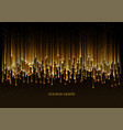 curtain golden particles on a black background vector image vector image