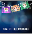 dia de los muertos or halloween card invitation vector image vector image