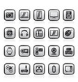 different types of electronics icons vector image