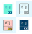 dishwasher icon set in flat and line styles vector image vector image