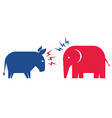 donkey and elephant elections 2020 vector image vector image