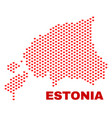 estonia map - mosaic of love hearts vector image vector image