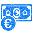 euro cash money grunge icon vector image vector image