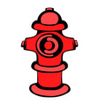 fire hydrant icon icon cartoon vector image vector image