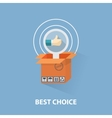 flat design shopping concept and the best vector image vector image
