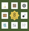 flat icon play set of gomoku guess dice and vector image vector image
