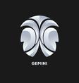 Gemini Horoscope Icon vector image vector image