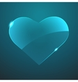 glass heart icon Eps10 vector image vector image