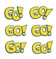 Go phrase written like as Pokemon logo vector image