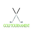 golf tournament label vector image