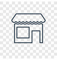 groceries shop concept linear icon isolated on vector image