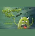 halloween flyer - cartoon 3d realistic monster vector image