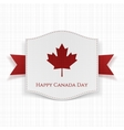 Happy Canada Day textile Background Template vector image vector image