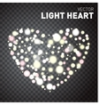 Heart of Glowing lights isolated on transparent vector image